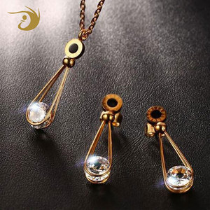Fashion Wholesale New Design Beautiful Pearl Jewelry Set Earring And Necklace Set