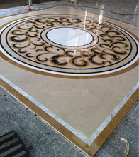 Decoration picture water jet marble tile floor medallions designs