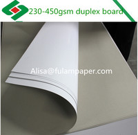 Packing paper duplex board grey back 350gsm 300gsm paper board in sheet