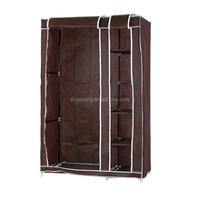 Adjustable plastic assembled cloth storage wardrobe with cabinet