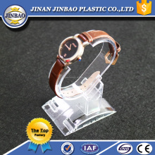 JINBAO Thick Clear Acrylic Wrist Watch Display Rock/Cubic Base Clear Watch Rock