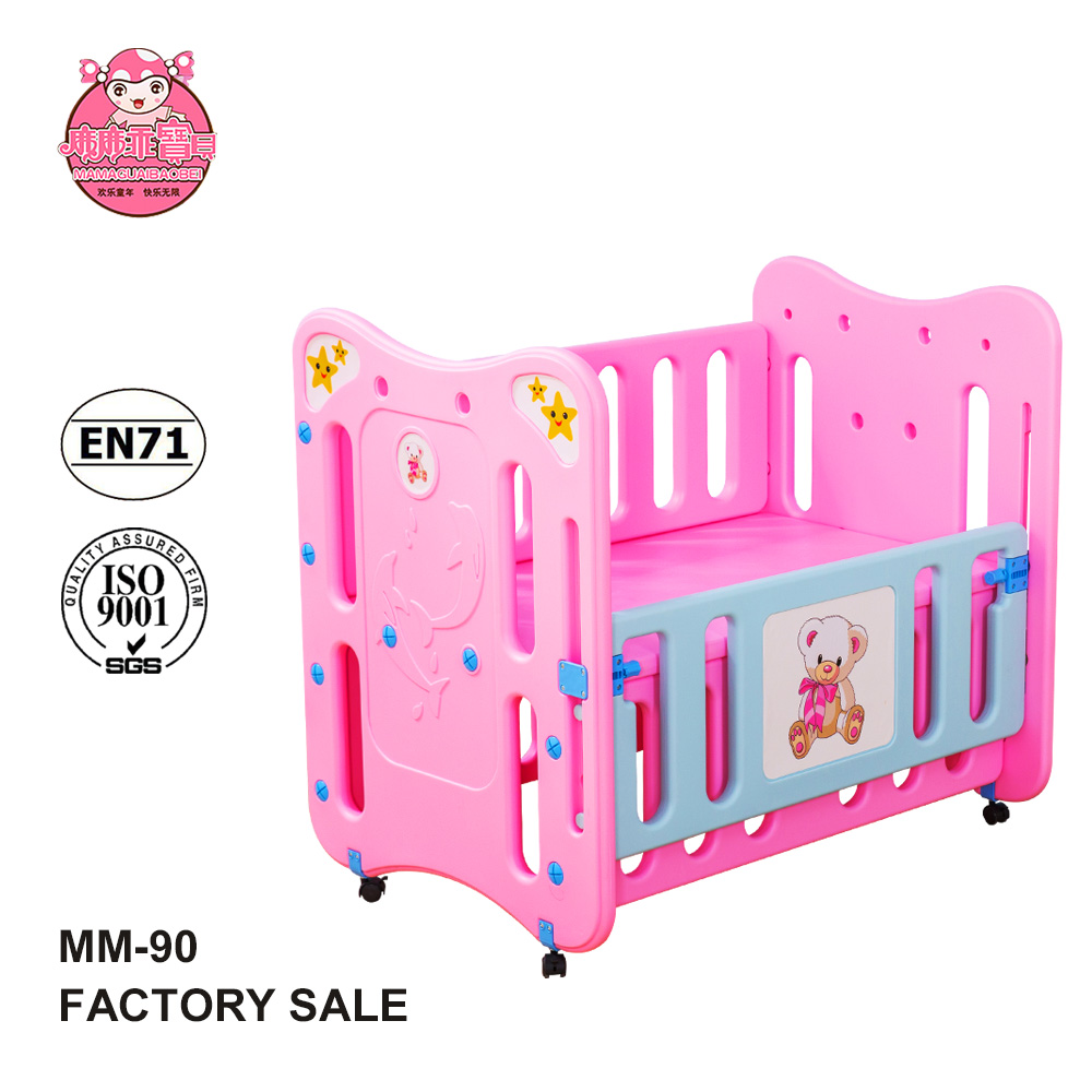 Plastic Baby Bed EN716 Standard Can Hang Nets Baby Crib