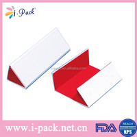 Pure color handmade folding leather eyeglasses packaging case,optical glasses case,spectacle case