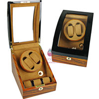piano lacquer exquisite watch winder box for 5 watches packing with acrylic window