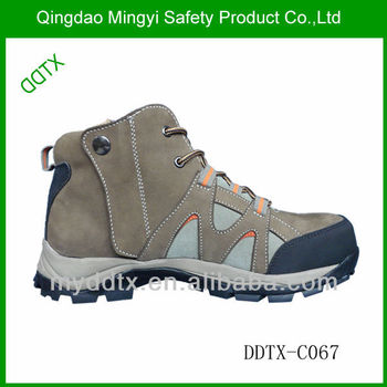 Industrial and construction work shoes steel toe side zipper safety shoes