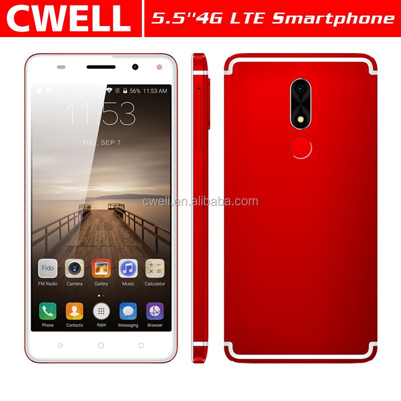 5.5 Inch Quad Core 2GB RAM 16GB ROM Metal Body 3000mAh Battery Fingerprint Unlock Android 4G LTE Smart <strong>Phone</strong> W&<strong>O</strong> W7