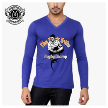Long Sleeve men's tshirts with v-neck fitness fashion