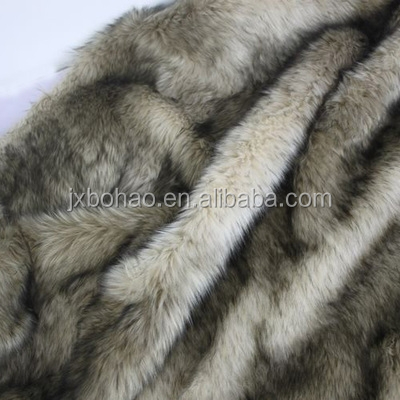 4 cm camel black dye pointed jacquard plush cloth Fake fur fabric