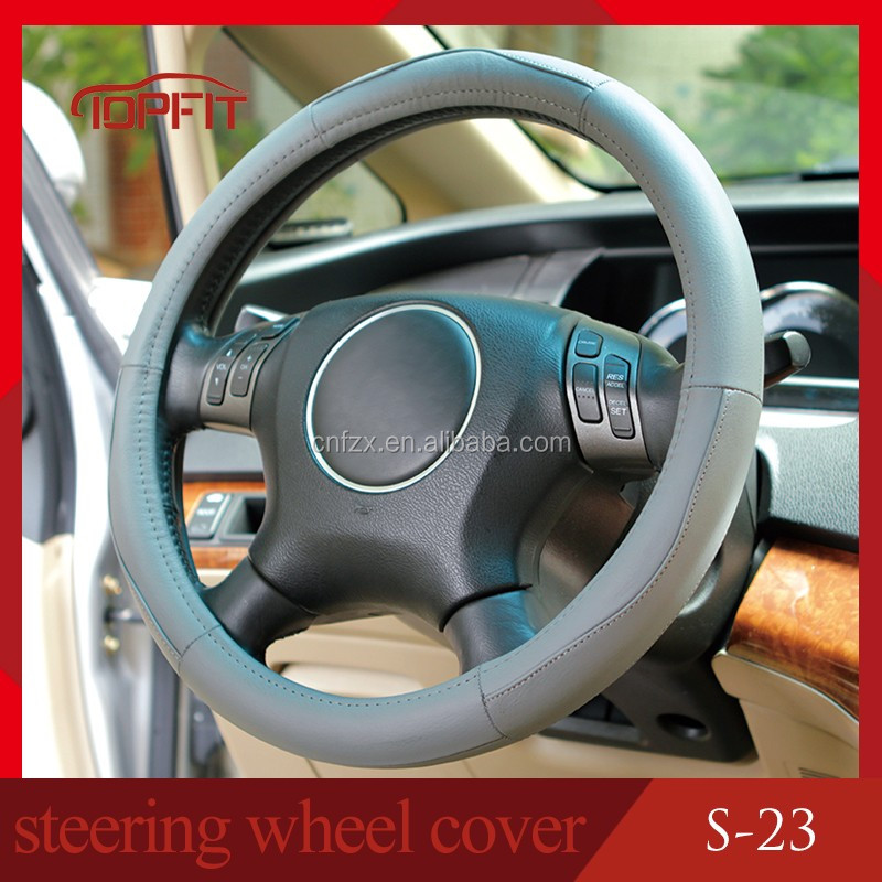 Guangzhou Fuzhixiang Leather steering wheel cover factory universal size steering wheel cover