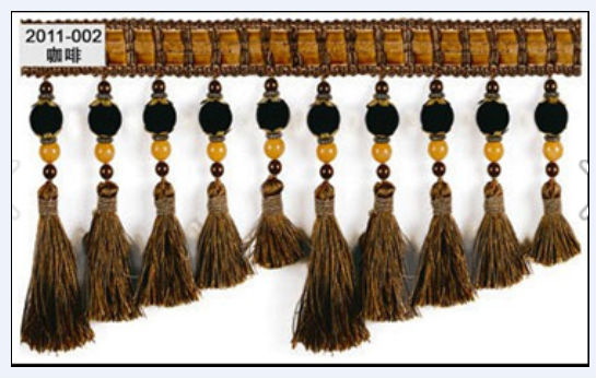 popular Curtain Bead tassel Fringe with trim for curtain decor