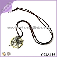 vintage long necklace hunger games necklace