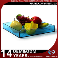China factory Clear Acrylic Serving Fruit Tray with beautiful colour for carring fruit
