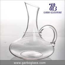 2250ml transparent glass wine decanter with round handle