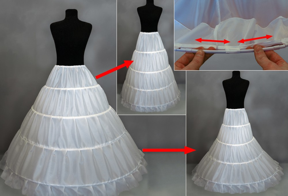 Newest Adjustable Petticoat For any Shape of Skirt with 4 Adjustable Rings.