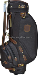 wholesale high quality custom handmade PU leather personalized golf bags