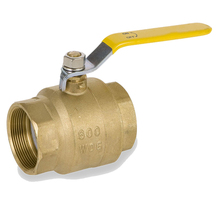 Manual Lever Handle PTFE Seats Female NPT Threads Brass Ball Valve to Connecting Male Threaded Pipes