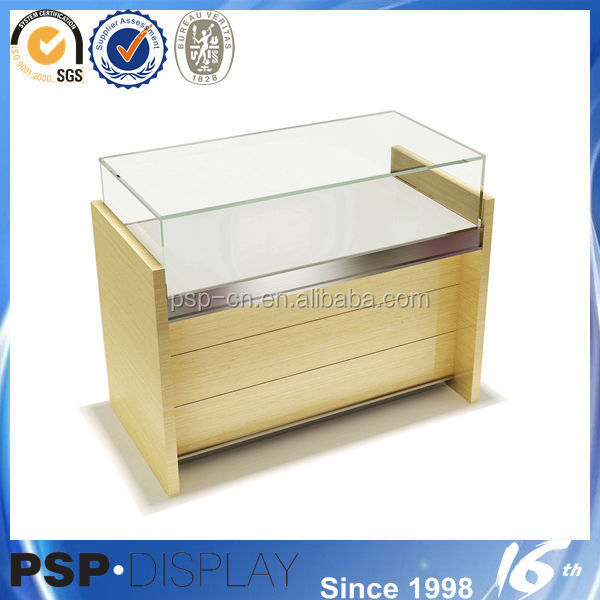 2014 new design oak painted mirrored photos frame jewelry cabine