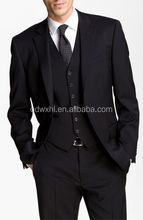 2015 Best business mens black suit cheap mens wedding suit good quality