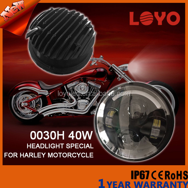 "Factory best seller work light 40w 5.6"" High/Low Beam led Headlight motorcycle for Harley"
