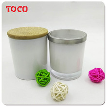 White Color 100% Cotton Wick Paraffin Wax Candle For Decoration