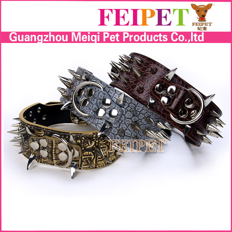 High-end spiked collar for pitbull with many colors