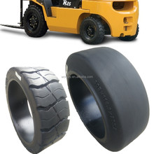 high quality 12x5x8 16.25x6x11.25 12x4 1/2 x 8 press on solid tires for forklift cars