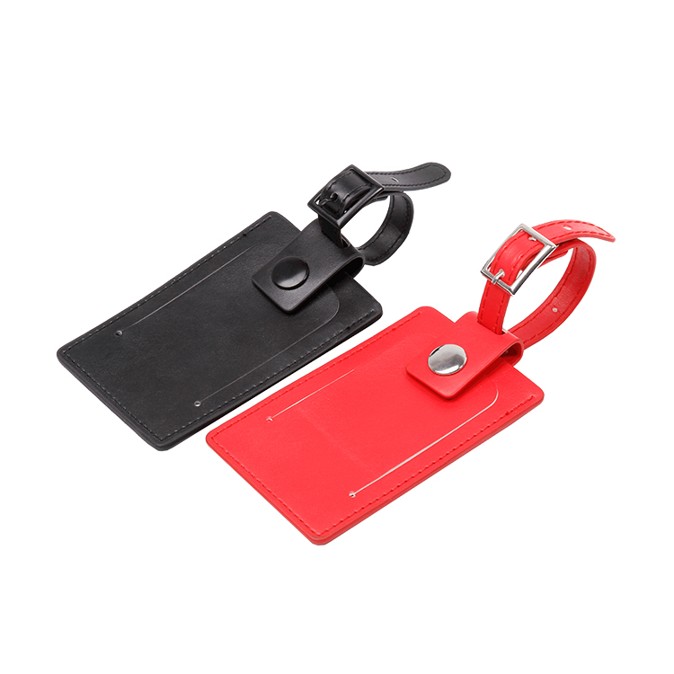 1310502 Travel Embossed PU Leather Blank Bag Tag/luggage Tag