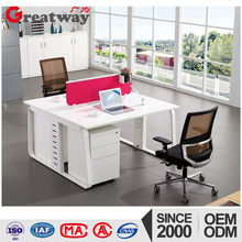 Office table with wheels Cheap computer desk executive office desk with wire manager system