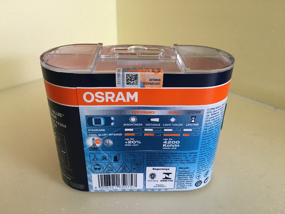 Osram H7 Cool Blue Intense 64210CBI DUO 12V 55W 4200K +20% brighter