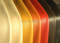 pu coated cow leather for upholstery