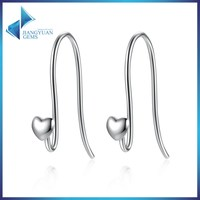 925 stering silver no stone silver earring
