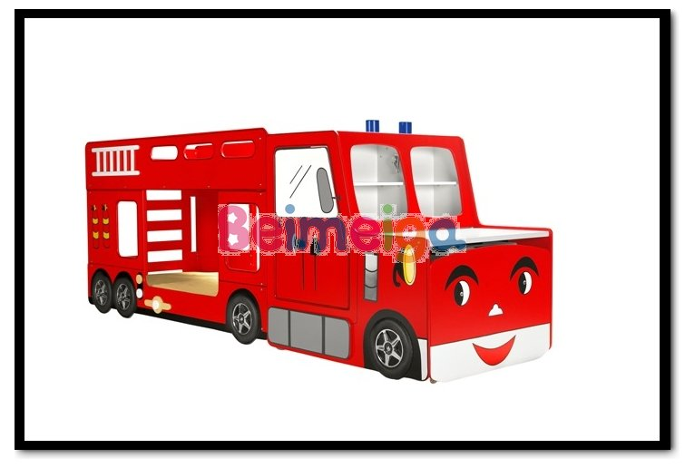 Kid Cartoon Bunk Bed Children Fire Bed Fire Truck Bunk Beds
