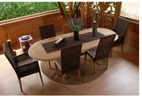 Oval outdoor furniture