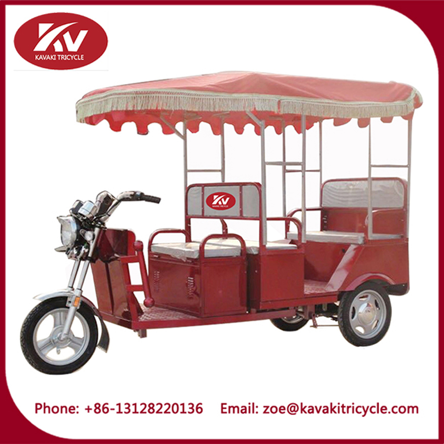 China 3 wheel motorcycle passenger load taxi tricycle