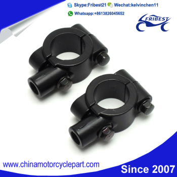 "Universal Handle Bar Mirror Mount Holder Clamp Adaptor 7/8"" Black 10MM For Motorcycle Moto Enduro Sport Bike"