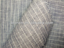 yarn dyed stripe linen cotton woven fabric