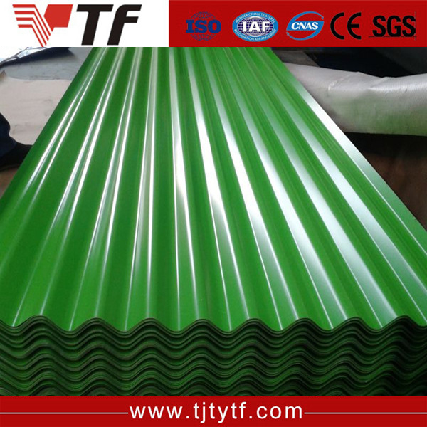 Manufacture Best price long span color coated corrugated roofing sheet