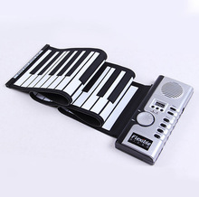 Hot Sale Portable Flexible 61 Keys Silicone MIDI Digital Soft Keyboard Piano Flexible Electronic Roll Up Piano