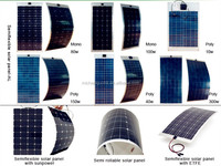 Flexible ETFE Thin Film Solar Panel, Polycrystalline Cell, 5-300W Module Selectable
