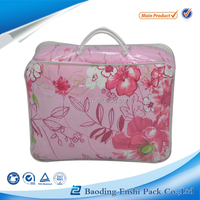 Side Gusset Bag Bag Type and Household Industrial Use vinyl pvc zipper handle cosmetic packaging bag