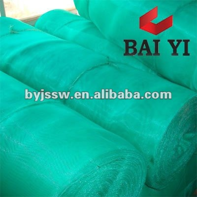 Green Plain Weaving Plastic Window Screen