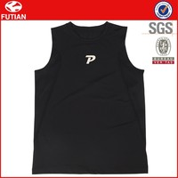 Sleeveless muscle gym t shirts/Polyester Dry Fit Gym T Shirts For Men #FT16X020-1