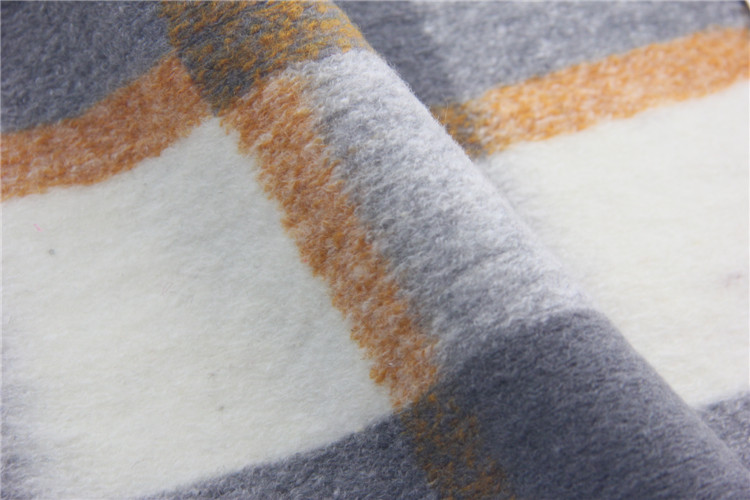 Shaoxing Factory Direct Selling Plaid Uniform Fabric Wool Poly Acrylic For Winter Coat