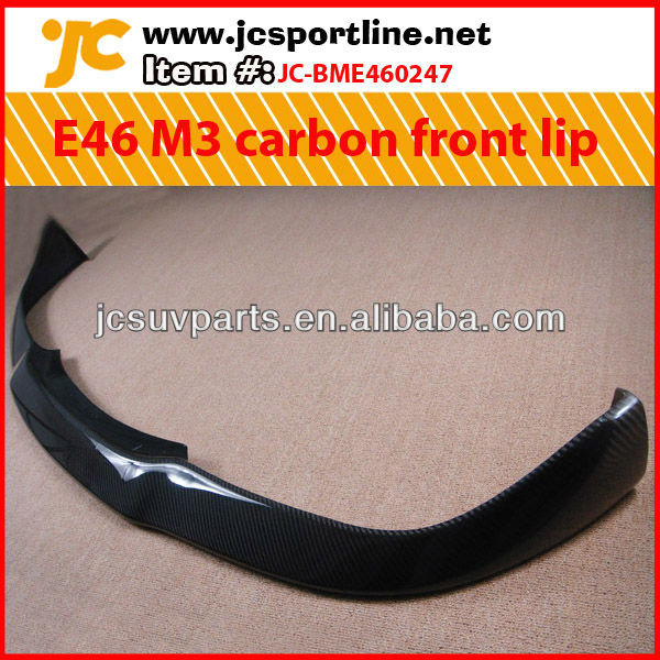 For BMW E46 M3 JC style carbon fiber front bumper lip