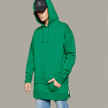 Hot sell long sleeve wholesale pain mens hood t-shirt double layer t-shirt