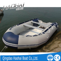 15.4ft 470cm aluminum floor inflatable out-board fishing vessel