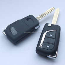 2 Button Remote Key Shell For Toyota Carolla Camry Crown Reiz RAV4 Vios Flip Floding Key Case Fob Key Replacement