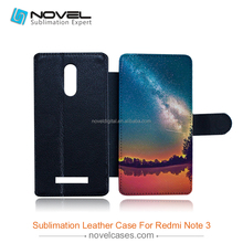 New Sublimation leather cell phone case for Redmi Note3
