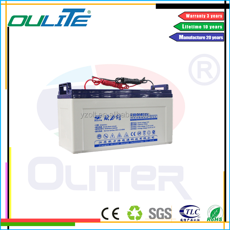 Oliter long life lead acid gel 12v 120ah deep cycle battery