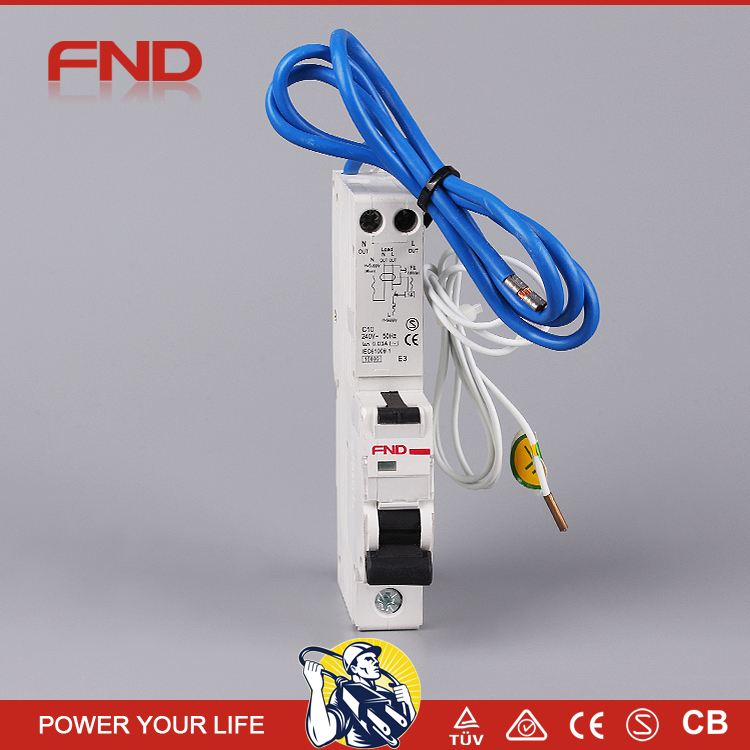 NEW yueqing 1p+n Earth Leakage /Residual Current Circuit Breaker / RCBO/ELCB/RCCB manufactuer